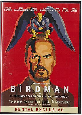 BIRDMAN (DVD,2015) RENTAL EXCLUSIVE