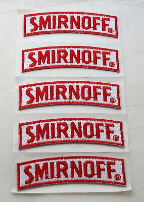 5 Small Smirnoff Vodka Distillery Small Advertising Cloth Patch New NOS