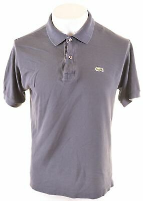LACOSTE Mens Polo Shirt Size 4 Small Grey Cotton Loose Fit  KV09