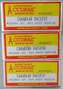 HO-Scale-50-Steel-Boxcar-Kits-3-Pack-Canadian-Pacific-Accurail-56404