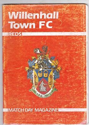 WILLENHALL TOWN V CHASETOWN WEST MIDLANDS LEAGUE   26/10/91