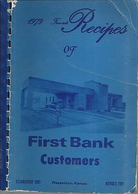 Pleasanton Ks 1979 Recipes Of First Bank Customers Cook Book  Kansas Community
