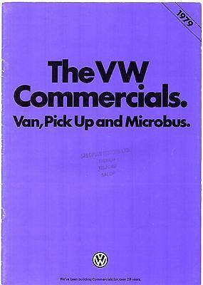 Volkswagen Transporter Bay Window 1978-79 UK Market Brochure Van PickUp Microbus