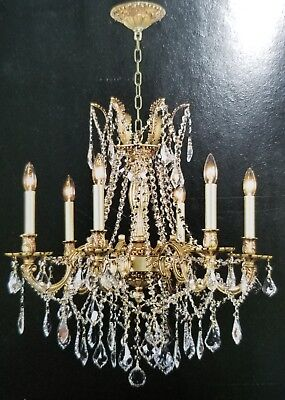 Palace Royal 6 Light  French Gold Crystal Chandelier Light 2
