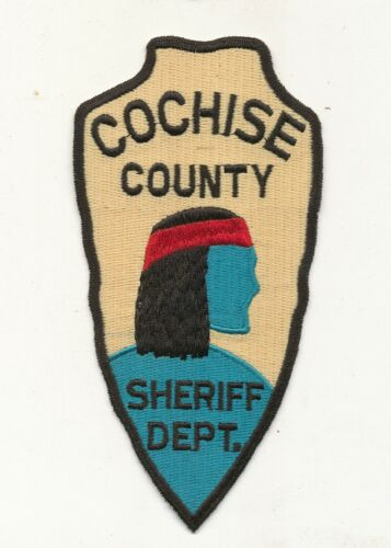 B31 - COCHISE COUNTY ARIZONA INDIAN CHIEF POLICE PATCH, Unused