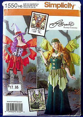 Simplicity Halloween Witch Garden Fairy Costume Sewing Pattern 6,8,10,12,14 1550 (Garden Fairy Costume)