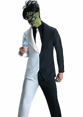 Two Face Costume Adult Mens Batman Villain Harvey Dent - L & Plus Size (Two Face Kostüm)