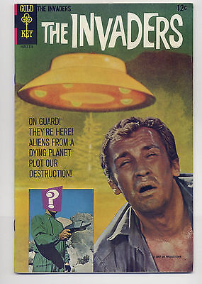 The Invaders #1 VF+ 1967 Gold Key Silver Age TV Comic Book Aliens Photo Cover