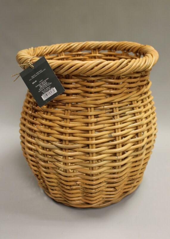"Threshold 13.4"" x 13.4"" Natural Rattan Basket - New"