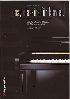 Klavier Noten -  EASY CLASSICS FÜR KLAVIER - 100 der schönsten Melodien -