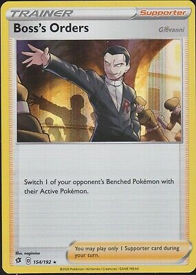 Pokemon TCG SS Rebel Clash 154/192 Boss's Orders Holographic Trainer Card