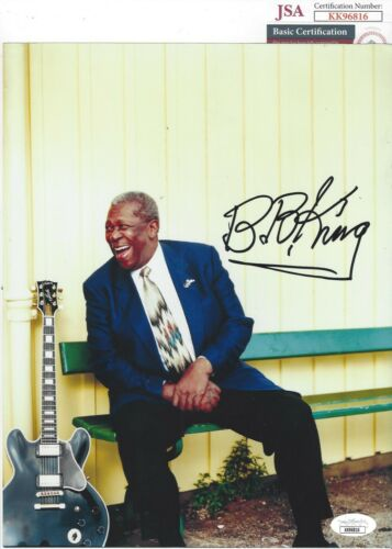 B.B. KING Signed Autograph 8x10 Photo Music BB King JSA COA