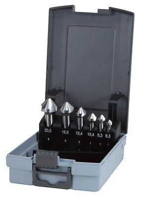 Ruko 6pcs. Hss Taper Deburring Countersinker Set Type C 90 Made In Germany