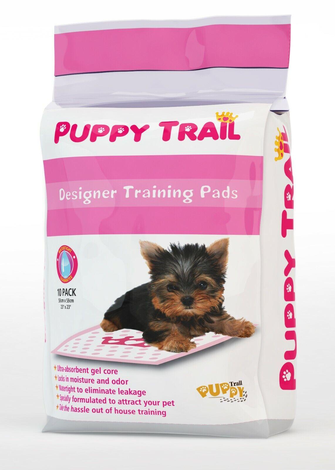 Pink Puppy Pads Case- Puppy Trail Designer Pads -120 Puppy Pads 12 - 10 Packs  - $39.99