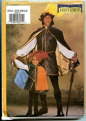 Musketeer/Renaissance Costume - Butterick Sewing Pattern for BOYS - XS-L - NEW](Renaissance Costumes For Kids)