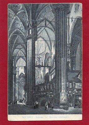 RARIT DALLA LOMBARDIA MILANO MAILAND 1906 INTERNO DEL DUOMO AK