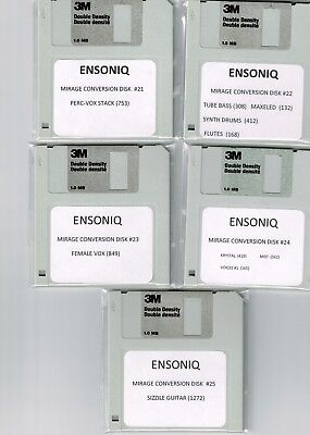 ENSONIQ ASR 10, EPS 16 PLUS & TS10 MIRAGE CONVERSION 10 DISK SET!! SET #3, used for sale  Shipping to Canada