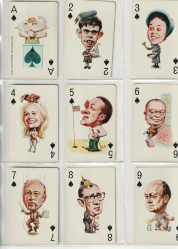 1971 POLITICACARDS 54 IN DECK (TWO JOKERS)