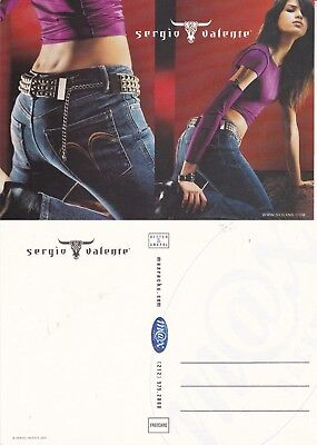 SERGIO VALENTE JEANS UNUSED ADVERTISING COLOUR  POSTCARD (a)