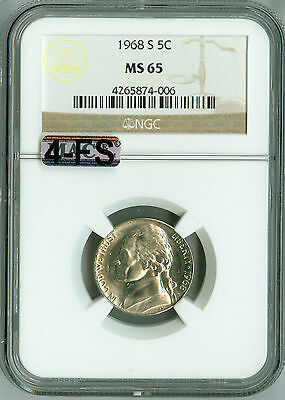 Click now to see the BUY IT NOW Price! 1968 S JEFFERSON NICKEL MS65 NGC MAC 4FS 4 FULL STEPS TOUGH YEAR FOR STEPS