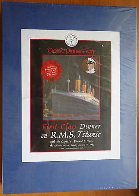 Classic Dinner Party kit, 8 guests, RMS Titanic theme, 14 Apr 1912, New & sealed - April Party Themes