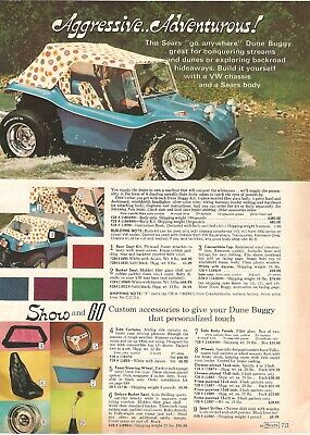 VINTAGE 70'S SEARS DUNE BUGGY MINI BIKES CATALOG PRINT ADS CLIPPING