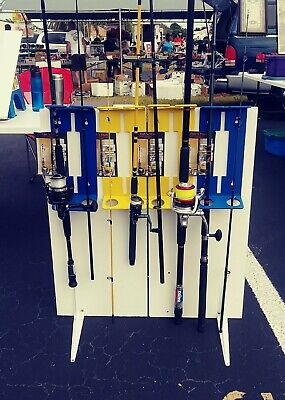 Fishing rod rack pole holder wall mounted stand  storage carrier-FREE SHIPPING