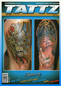 AUSTRALIAN TATTZ TATTOO PHOTOGRAPHY LARGE MAGAZINE VOL 11 NEW
