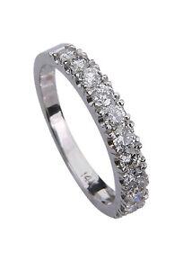 Diamond-Wedding-Engagement-Ring-Band-14K-18K-Platinum-Ring-all-sizes-0-75CT