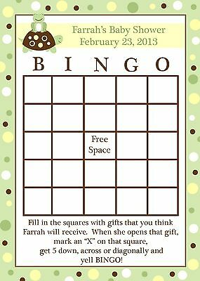 24 Baby Shower Bingo Game Cards - Turtle and Frog ](Baby Turtle Games)