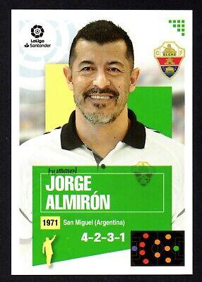 JORGE ALMIRON #1 ENTRENADOR ELCHE CF CROMO LA LIGA SANTANDER 2020-21 ESTE...