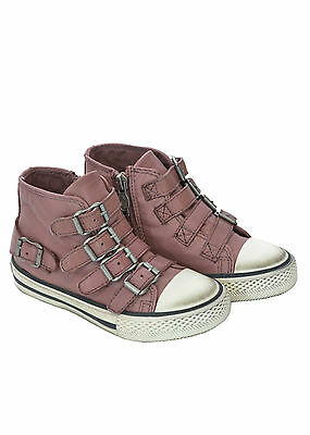 ASH sneakers in pelle bambina con fibbie SCONTATA