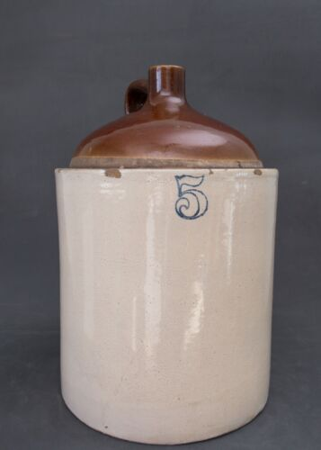 Antique 5 Gallon Western Stoneware Jug