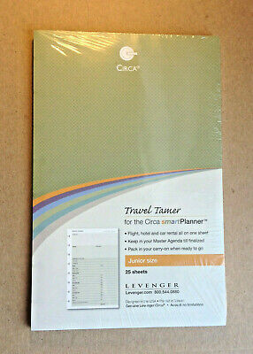 Sealed Levenger Circa Discbound Smartplanner Travel Tamer Refill Junior Ads8215
