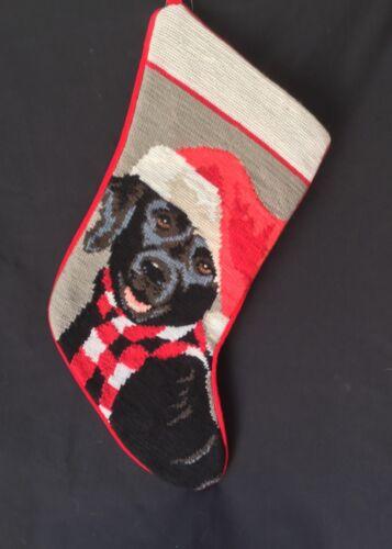 Black lab needlepoint stocking- not a kit