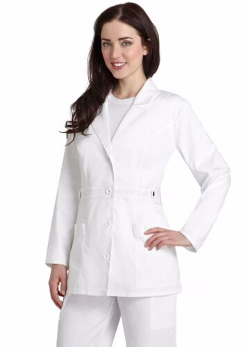 Stylish Medical White Women Short Lab Coats XS S M L XL 2XL Women Lab Coat