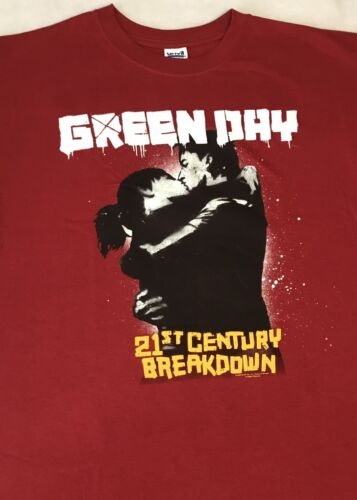 New GREEN DAY 21st  Century Breakdown Maroon/Burgundy/Red T - Shirt Large or XL