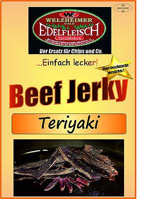 1 Kg Beef Jerky Trockenfleisch Teriyaki Würzung Am Stück / STIX