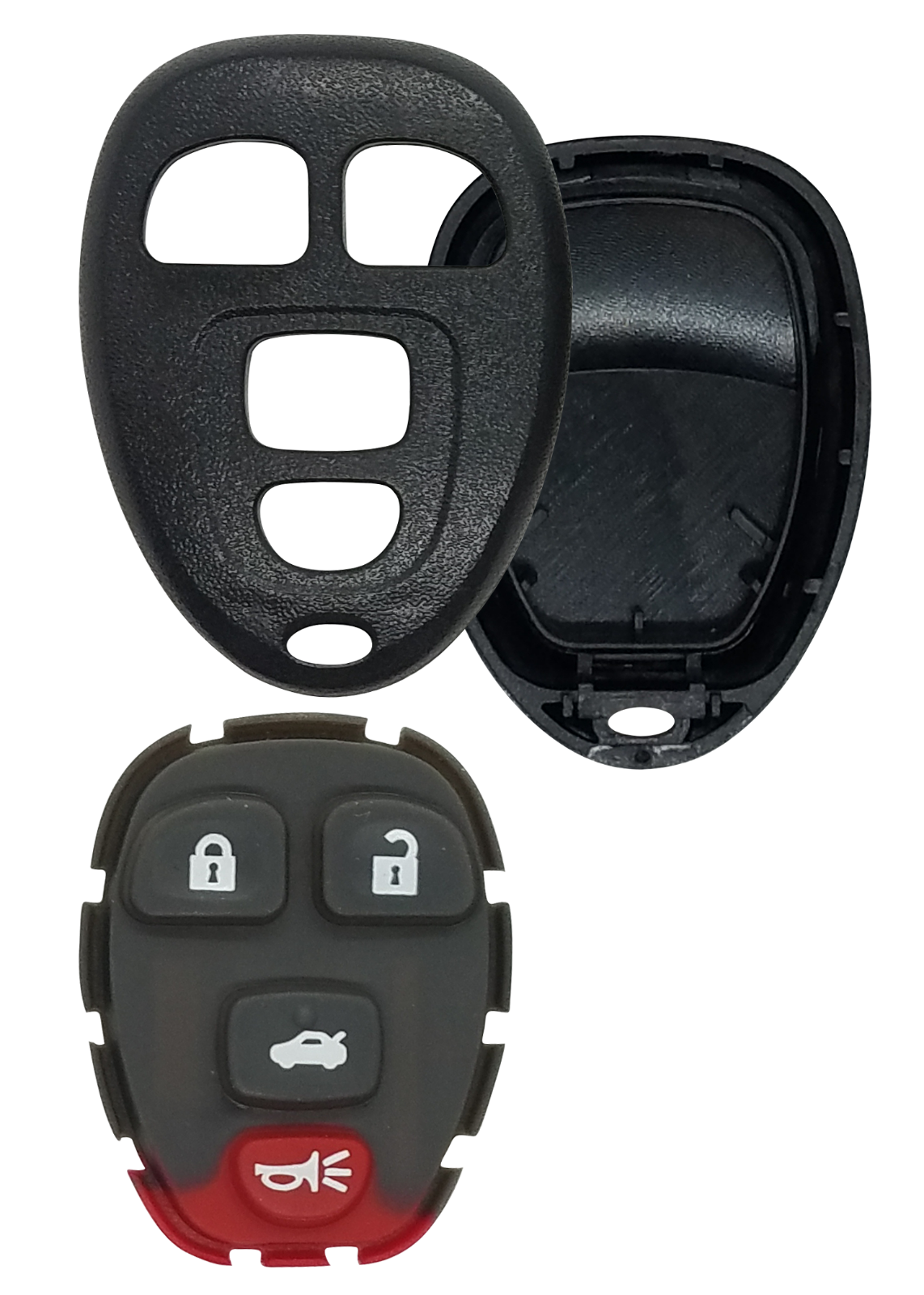 NEW CASE & BUTTON for GMC CHEVROLET & PONTIAC REMOTE KEY FOB for FCC KOBGT04A