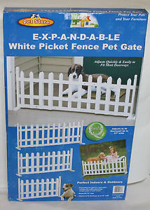 Expandable-White-Picket-Fence-Pet-Gate