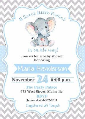Elephant Baby Shower Invitation, Boy, Elephant, Baby, Invitation, Baby Shower - Baby Shower Boy Invitations