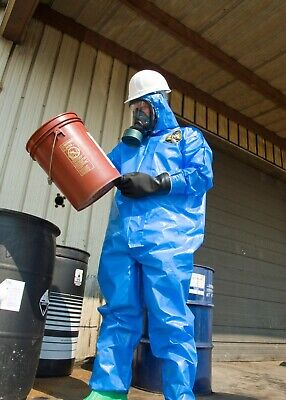 (6 Suits) Hazmat Kappler Suit 100XP Coverall W/ Hood Elastic Wrists and Ankle