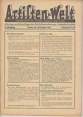 Artisten-Welt 1943 Heft 21 - Für den Billy Jenkins-Sammler, der schon alles hat