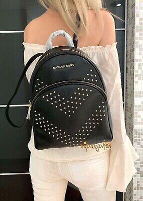 MICHAEL KORS ABBEY MEDIUM STUDDED BACKPACK LEATHER -