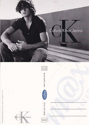 CALVIN KLEIN JEANS UNUSED ADVERTISING COLOUR POSTCARD (b)