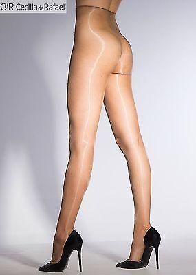 Cecilia De Rafael Eterno Glossy Tights 15 Denier Shiny Pantyhose Hosiery Nylons