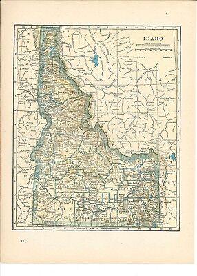 1942 Vintage IDAHO or GEORGIA Map ready to frame for art
