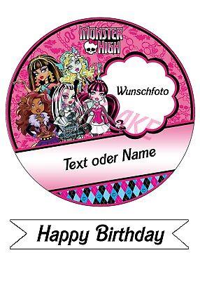 Tortenbild,Tortenfoto,Tortenaufleger Monster High 2 (Fontant - Monster High Bilder