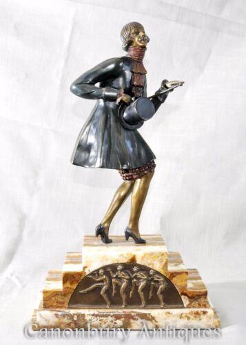 Chiparus Art Deco Signed Top Hat Dancer Girl
