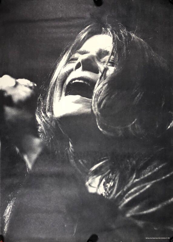 GIANT Vintage Janis Joplin 1969 Black White Poster Original 30x41.5 #17